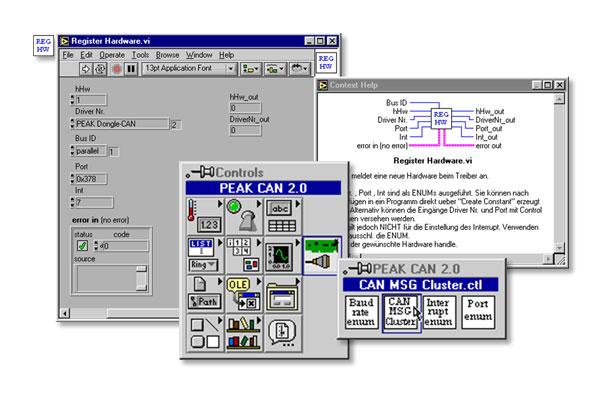 LabView for PCAN-Light 驱动